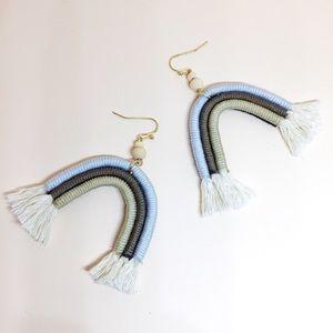NWT Anthropologie Rainbow Tassels Earrings